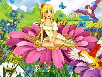 Thumbelina 2a - Organizar los rompecabezas de cuentos de hadas