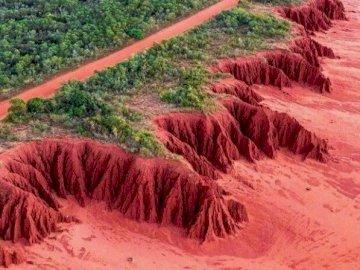 czerwone klify - czerwone wybrzeże Australii