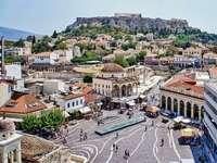 Vacker grekisk stad