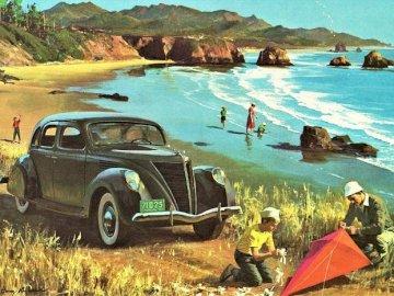 On the beach. - Landscape puzzle.