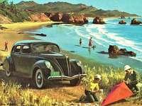 Sur la plage. - Puzzle paysage.