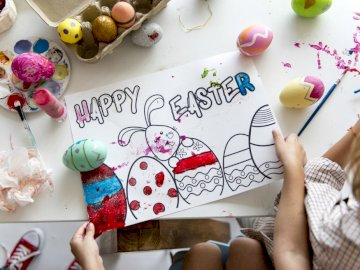 Easter and painting - Easter drawing, puzzle art