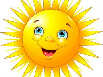 smiling sunshine - smiling sun high in the sky
