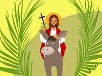 Pálma vasárnap GYERMEKEK - Vasárnap Alma. Jézus belépett Jeruzsálembe.