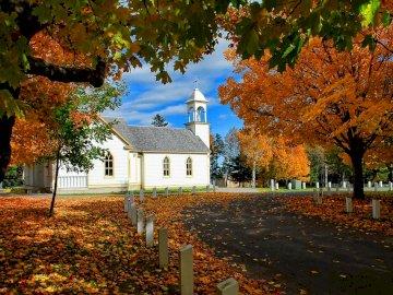 marie-do - White Church of Canada in Fall
