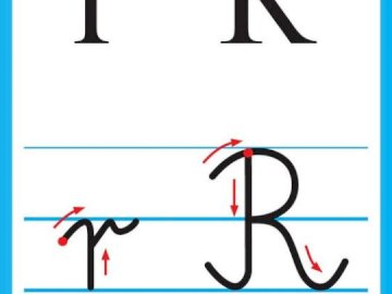 Letter - consonant - A card showing how to write a letter