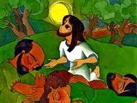 Jezus bidt in de tuin van Gethsemane