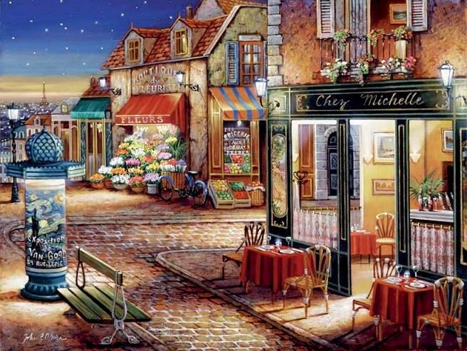 On the streets of Paris - Landscape puzzle (18×14)