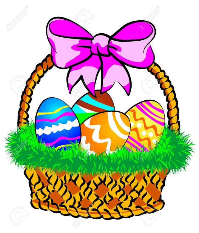 Układanka 20 elementów - Kosz pełen zdobionych jajek (5×6)