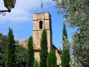 TOURIST OFFICE MAUSSANE LES ALPILLES - THE BELL TOWER OF THE SAINTE CROIX CHURCH IN MAUSSANE LES ALPILLES