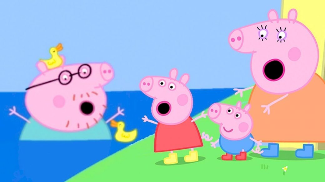 Peppa Pig- The largest puddle in the world - This is a puzzle designed for infants (3×3)