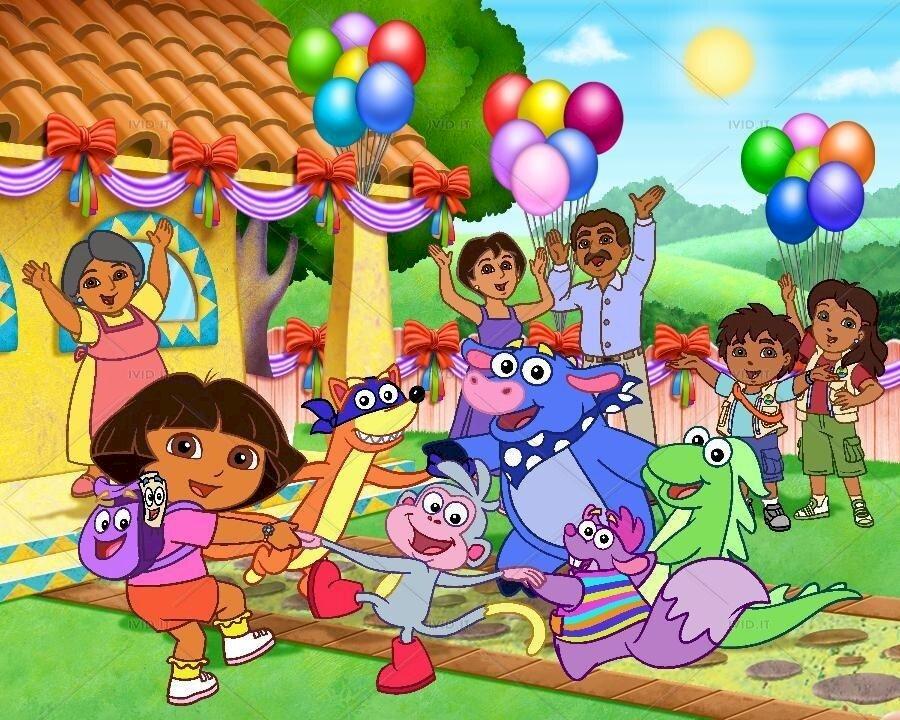 Dora de ontdekkingsreiziger - Dora de ontdekkingsreiziger. Dit is een puzzel die geschikt is voor baby's (3×3)