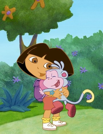 Dora the explorer - It is a puzzle suitable for infants (3×3)