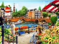 Рисуван Амстердам.