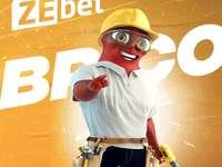 Puzzle ZEbet - Mascota ZEbet de pe site-ul de pariuri ZEbet