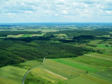 Lowland landscape - The picture shows the lowland landscape of Poland.
