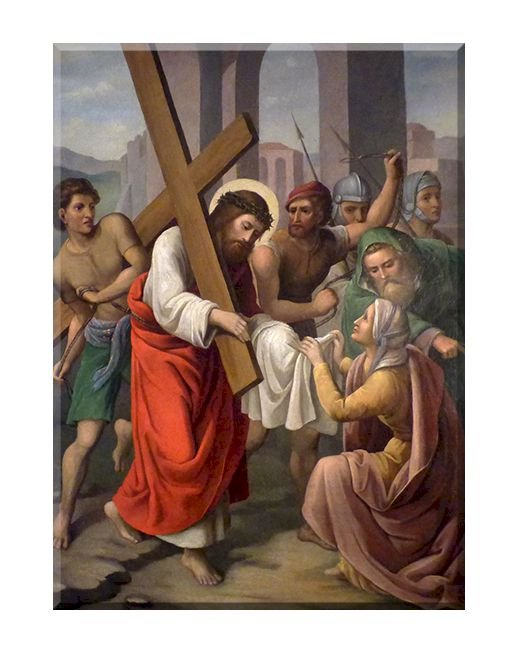 Wizerunek Mistrza -św. Weronika - stacja VI drogi krzyżowej (5×6)