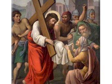 L'immagine del Maestro - Santo. weronika - stazione della VI via crucis
