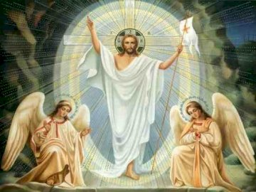 Jezus is opgestaan - Schik de volgende puzzels en je zult ontdekken wiens komst de wereld zal behagen op Paaszondagmorgen