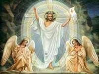 Jesus är upprätt - Ordna följande pussel så kommer du att ta reda på vem som kommer att behaga världen på påsksö