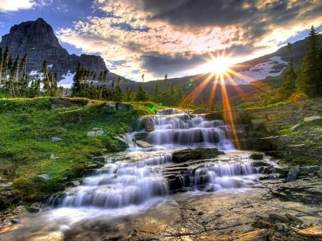 Хубав водопад -  (12×9)