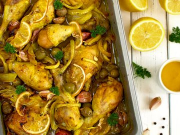 chicken with lemon - idea for a second course from India