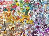 Pokemon galenskap - Pussel med Pokémon för alla