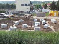 the beginning of construction at the neighbor.