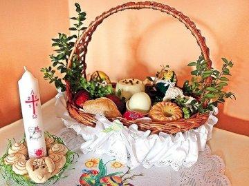Cesto pasquale - Cosa trasportiamo nel carrello Dedichiamo cibo il sabato santo Sabato santo e benedizione del cibo