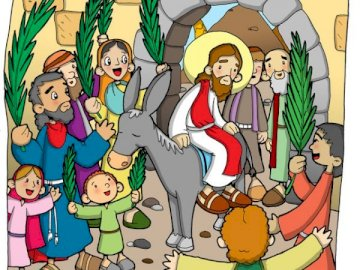 Jesus entering Jerusalem - For use in religion classes