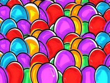 Oeufs de Pâques colorés - Oeufs de Pâques, oeufs colorés