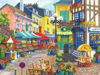 A colorful town. - Landscape puzzle.