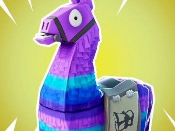 lama of fortnite a - This lama belongs to fortnite in various shades of pink and purple