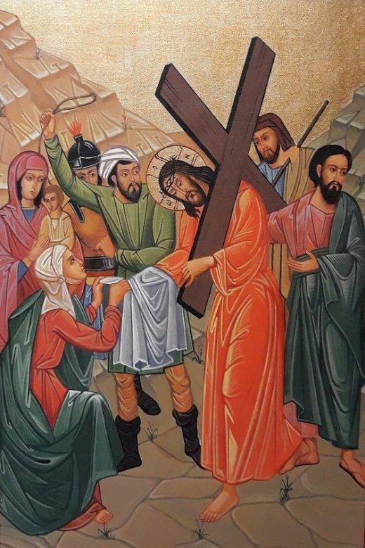 Jesus bär korset - Vägen för Jesu kors (4×4)