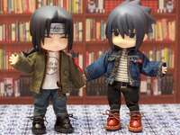 Itachi and Sasuke - The two brothers at the library