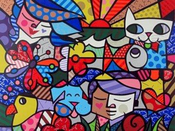 Britto, Garden - Romero Britto, Neo Pop puzzle