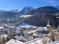 συναρμολόγηση τοπίου - Πολύ ωραίο ορεινό τοπίο το χειμώνα
