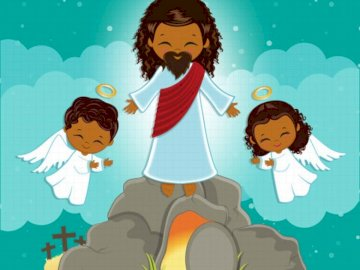 Isusovo uskrsnuce - Složi slagalicu i dobit ćeš sliku Isusovog uskrsnuća.