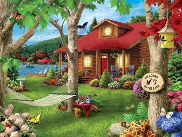 Puzzle. - Rompecabezas colorido para niños.