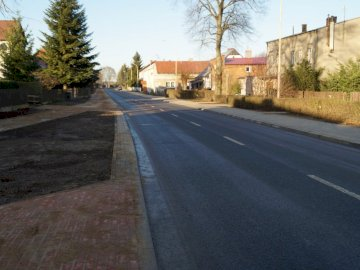 New street in Dolice - Ul. Polish Army in Dolice - after renovation