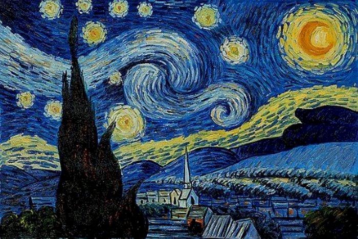 Noaptea înstelată - Vincent Van Gogh - O capodoperă a lui Vincent Van Gogh (4×4)