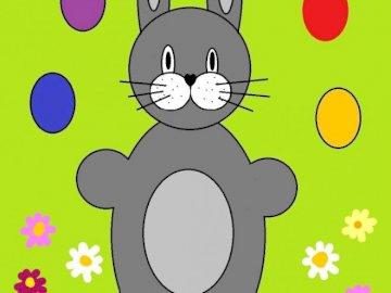 lepre giocoleria uova di Pasqua - Lepre giocoliere molto facile
