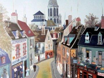 Eine ehemalige Stadt - Ansicht der Altstadt, Illustration