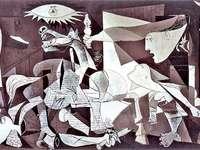 Герника Пикасо - Променете пъзела, за да пресъздадете известния образ н