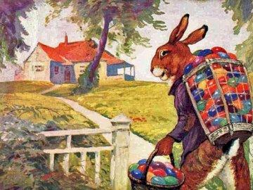 Liebre de Pascua. - Puzzle. Pascua. Hare.