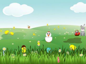 Puzzles de Pâques pour les enfants - Pâques arrive, puzzles pour enfants