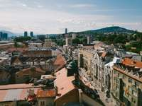 I was recently in Sarajevo - Bird's-eye view photography of city.