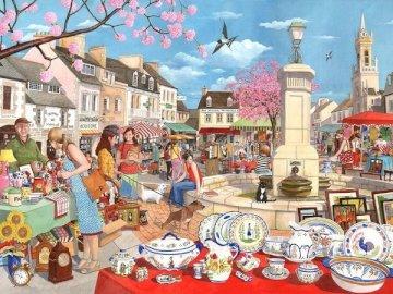 Spring Fair. - Landscape puzzle.