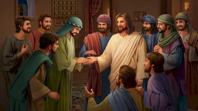 resurrected - Jesus appears to his disciples