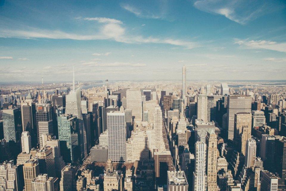 Schöne Skyline von NYC - Fotografie aus der Vogelperspektive von Hochhäusern. Paris (10×10)
